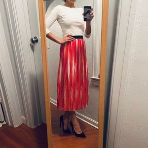 Notations Multicolored Pleated Skirt